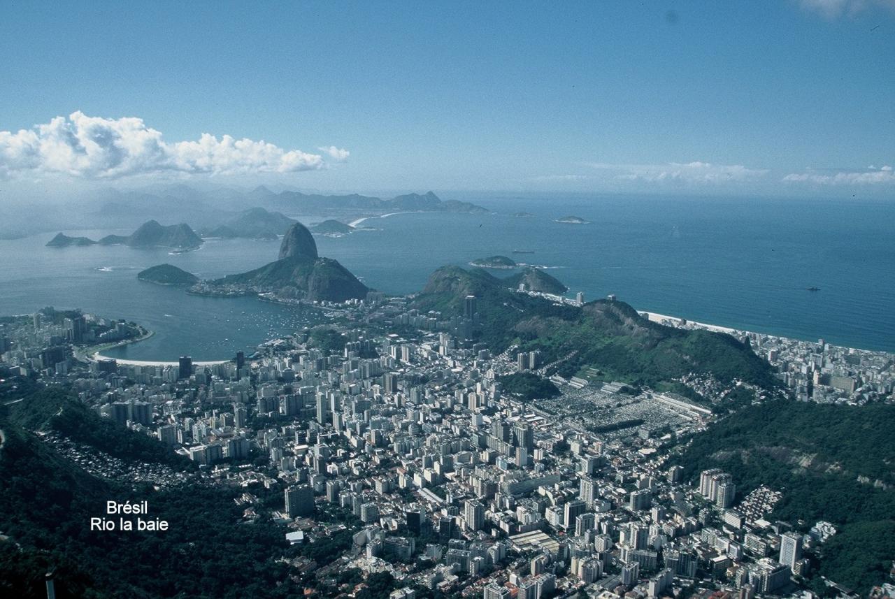 Brésil Rio la baie