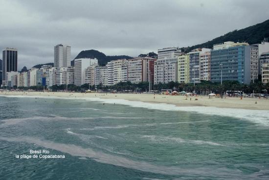 Brésil Rio la plage de Copacabana