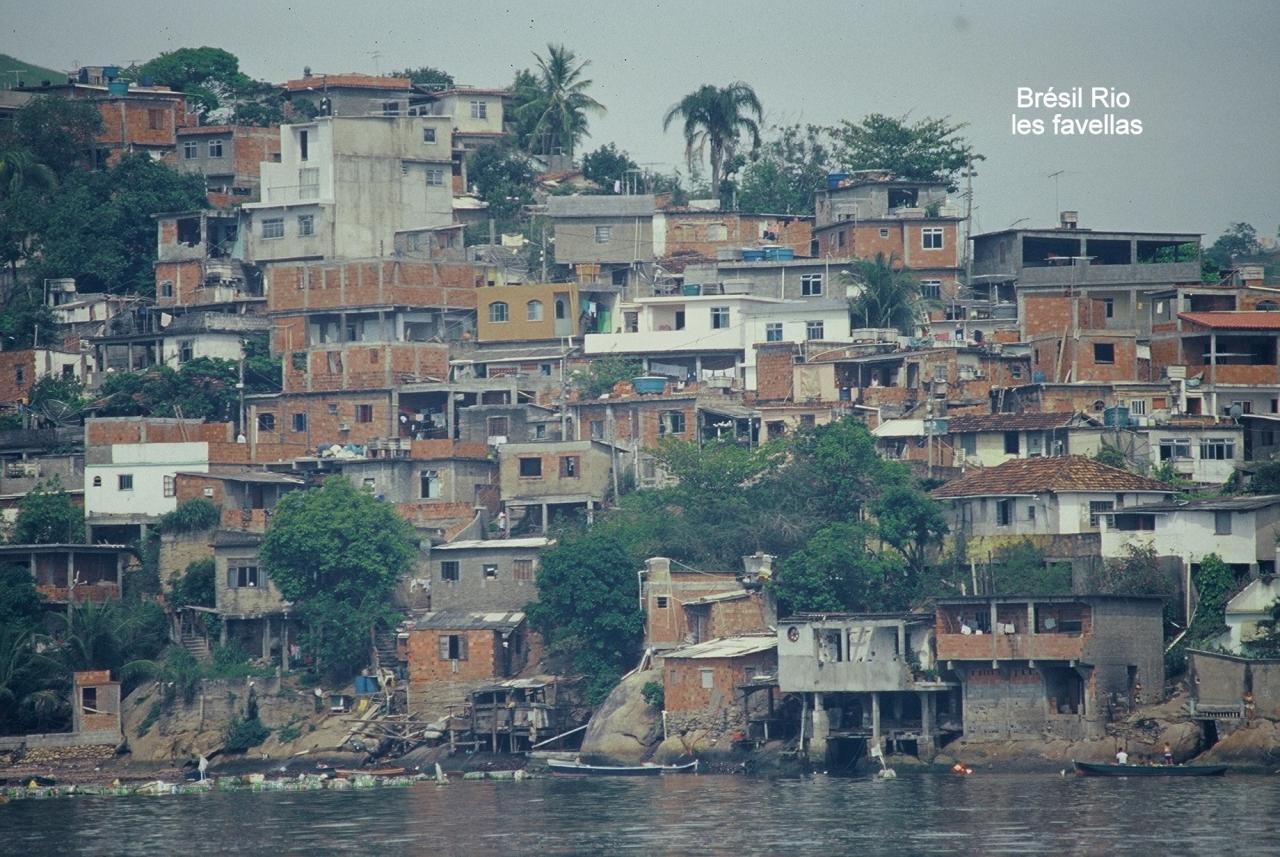 Brésil Rio les favellas